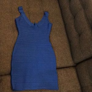 Herve leger blue dress size small